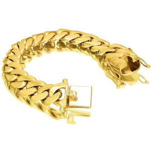 Vermeil Miami Cuban Link Bracelet With Box Clasp | 18mm