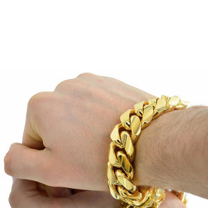 Vermeil Miami Cuban Link Bracelet With Box Clasp | 20mm