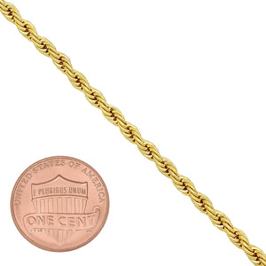 2.5mm Gold Layered Rope Bracelet
