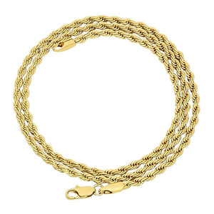 3mm Gold Layered Rope Chain