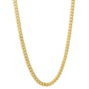 3mm Gold Layered Cuban Link Curb Chain