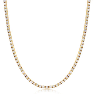 3mm Gold Iced Out Tennis Chain Necklace