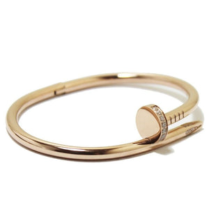 Rose Gold Nail Bangle / Bracelet With & Without CZ stones