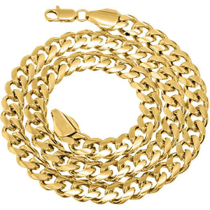 9mm Gold Layered Miami Cuban Link Chain