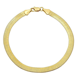 5mm Gold Plated Herringbone Bracelet