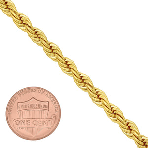 5mm Gold Layered Rope Bracelet