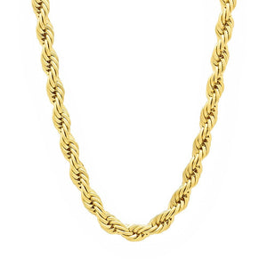 5mm Gold Layered Rope Chain