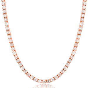 5mm Rose Gold Iced Out Tennis Chain Necklace