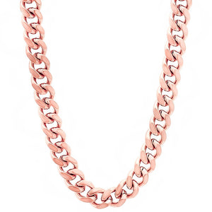 6mm Rose Gold Layered Miami Cuban Link Chain