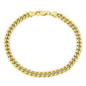 6mm Gold Layered Miami Cuban Link Bracelet