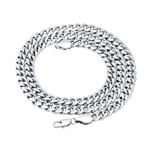 6mm White Gold Layered Miami Cuban Link Chain
