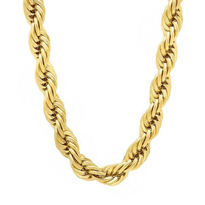 6mm Gold Layered Rope Chain