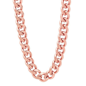 9mm Rose Gold Layered Miami Cuban Link Chain