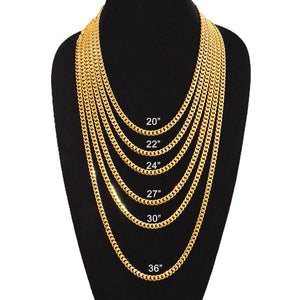 6mm Gold Plated Miami Cuban Link Chain