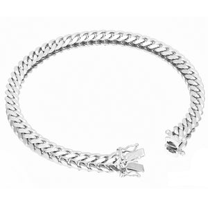 Silver Miami Cuban Link Bracelet With Box Clasp | 6mm