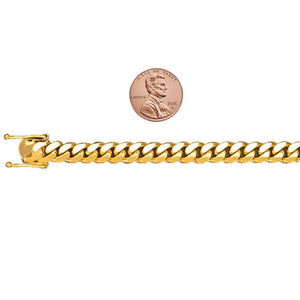 Vermeil Miami Cuban Link Chain With Box Clasp | 8mm