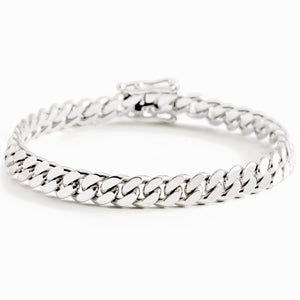 Silver Miami Cuban Link Bracelet With Box Clasp | 8mm