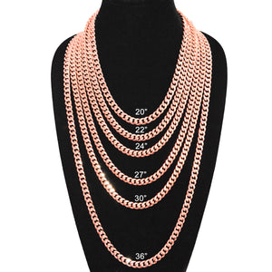 9mm Rose Gold Plated Miami Cuban Link Chain