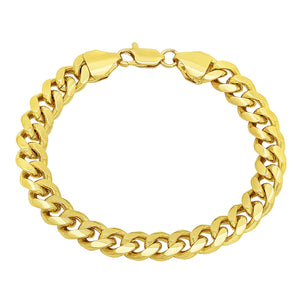 9mm Gold Layered Miami Cuban Link Bracelet
