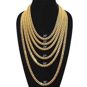9mm Gold Plated Miami Cuban Link Chain
