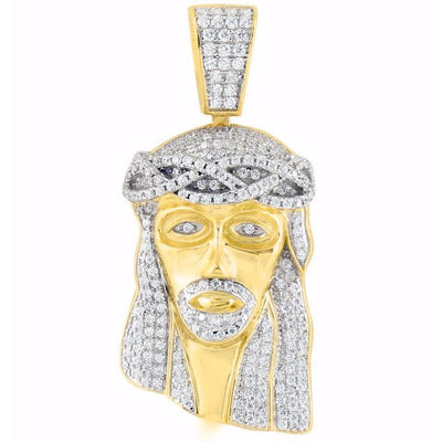 Gold iced out jesus piece 175 galleriaofgoldllc gold iced out jesus piece 175 mozeypictures Images
