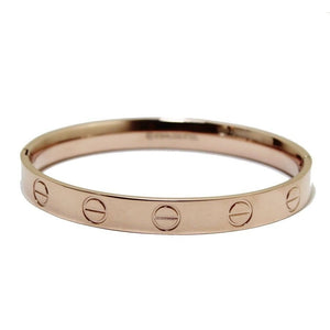 Rose Gold Screw Love Bangle | 8mm