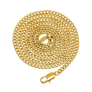 3mm Gold Plated Cuban Link Chain