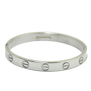 Silver Screw Love Bangle | 8mm