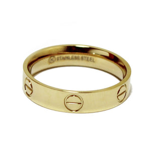 Gold Screw Love Ring