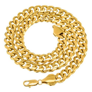 11mm Gold Layered Miami Cuban Link Chain
