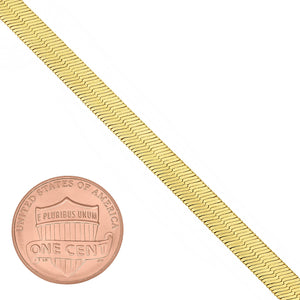 4mm Gold Plated Herringbone Chain