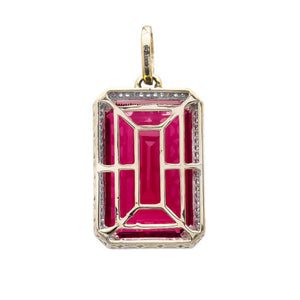 10k Ruby Pendant With Diamonds