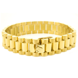 15mm Gold Presidential Watch Link Bracelet