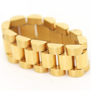 Gold Watch Link Ring