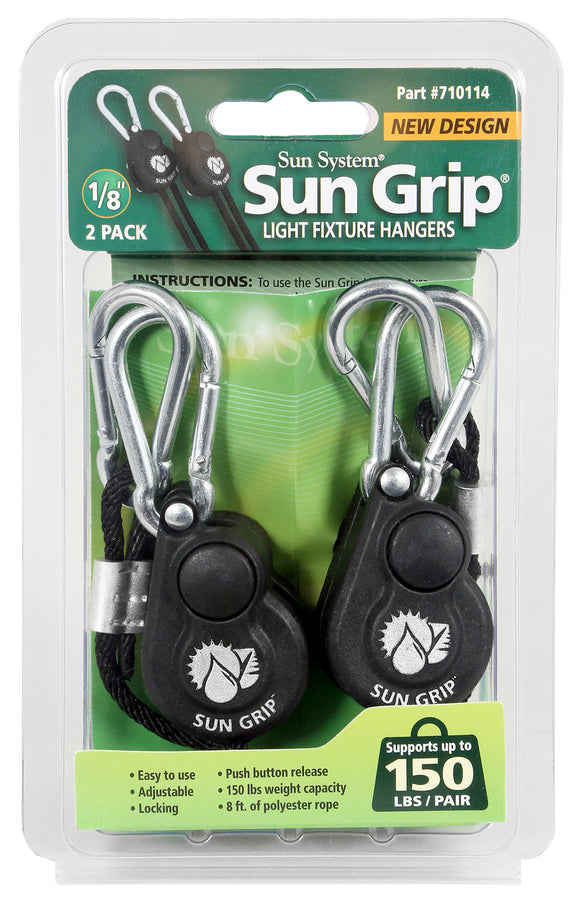 Sun Grip® Push Button Light Hangers 1/8 in