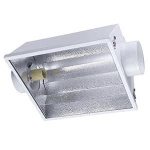 Grow Light Air Cooled Reflector Hood w/ Glass 6""