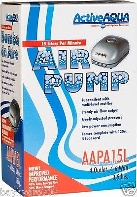 ActiveAqua Air Pump 4 Outlet
