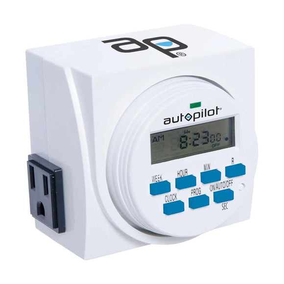 Auto Pilot Dual Digital Grounded Timer 7 Day