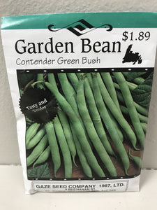 GARDEN BEAN CONTENDER GREEN BUSH SEEDS
