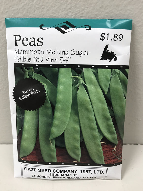 PEAS MAMMOTH SUGAR EDIBLE POD VINE 54