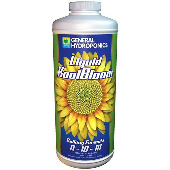 General Hydroponics Liquid KoolBloom 1 Quart.