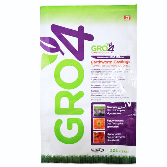 GRO4 Worm Castings 20 L