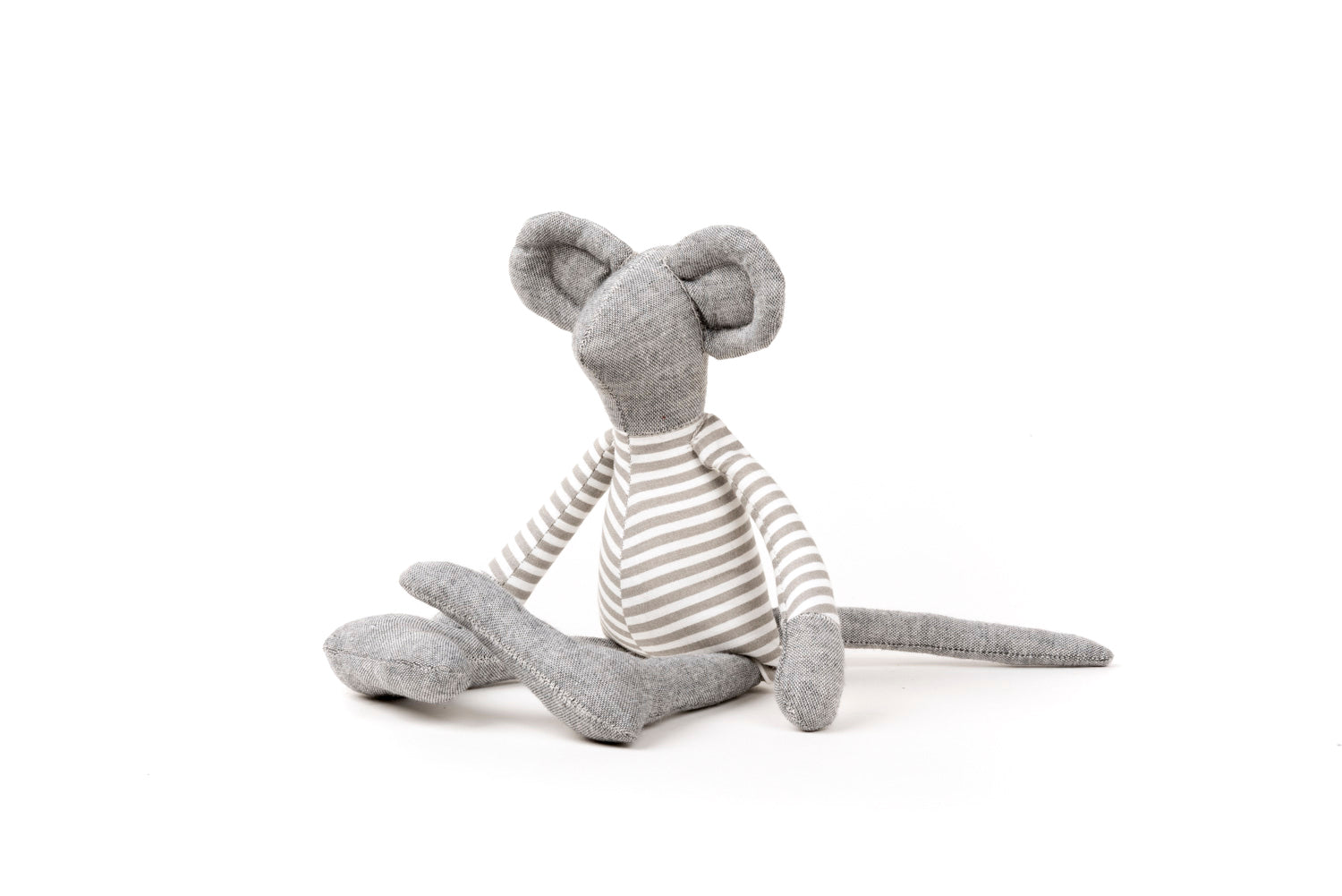 Gray linen mice doll SMALL mouse doll Minimalist rag doll Mouse toy Eco toy for babies Handmade toy Fabric mouse doll Gender neutral gift