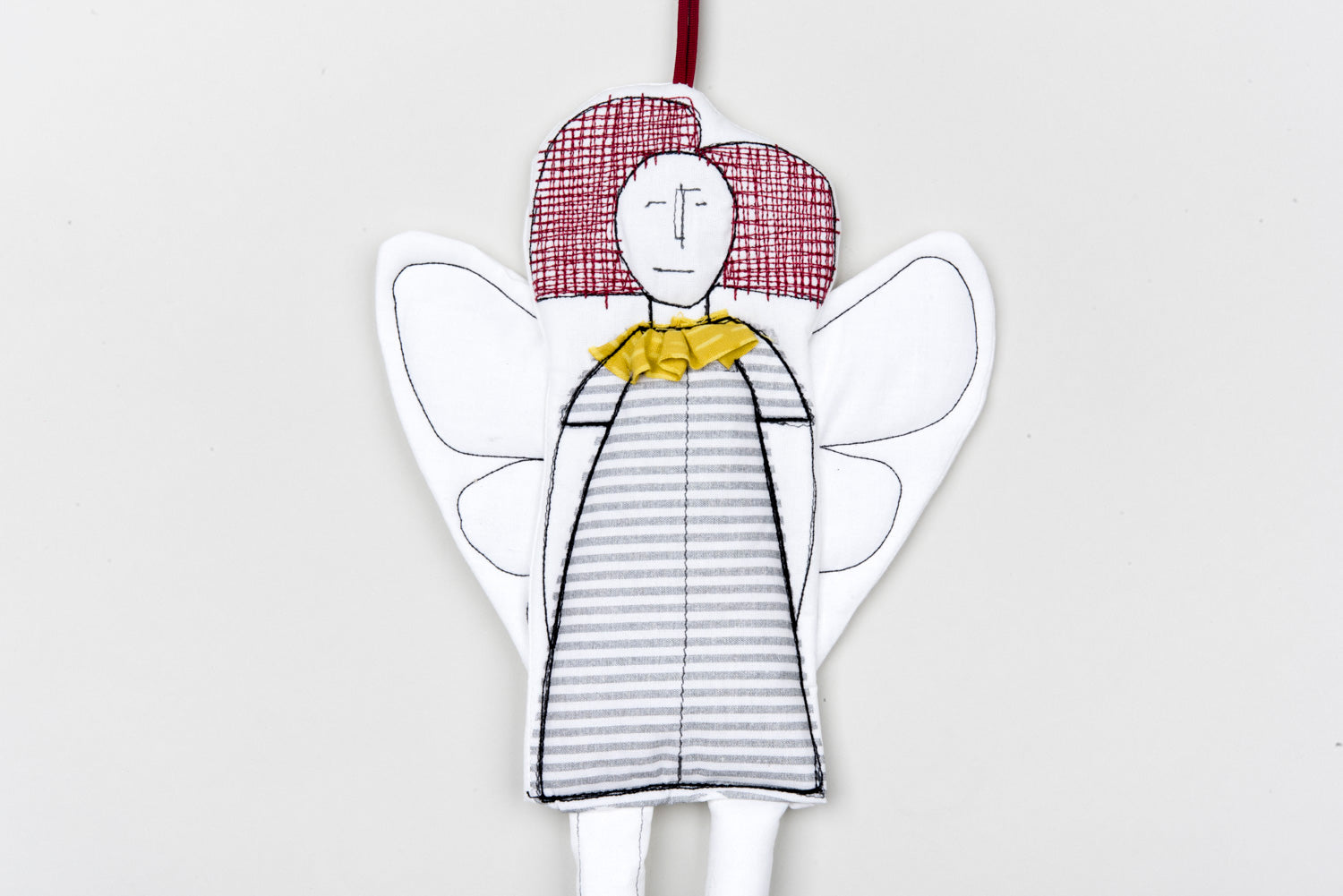 Tree ornament, Modern doll, Guardian angel, Textile doll, Cloth doll, Home decor doll, Angel doll, Fairy doll, Hanging angel,Fabric ornament