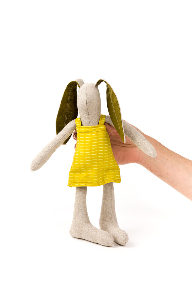 Bunny handmade toys , Decorative doll , Hare doll , Linen bunny , SMALL doll Baby girl doll , stuffed rabbit doll , Handmad fabric doll , Baby shower gift