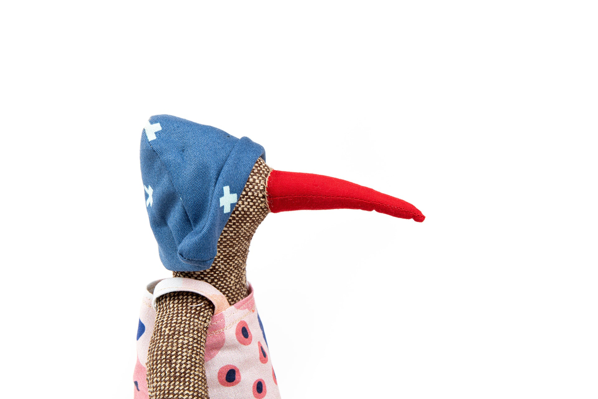 Plush duck doll Cloth bird Handmade doll Fabric doll bird First doll Stuffed Animal Goose doll One of a kind Decorative toy Eco Gift ideas