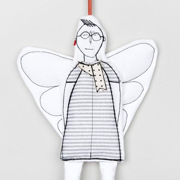 Unisex Hipster Angel of love Angel ornaments Love you gift Valentines decor Doll ornament Valentines day gift Cupid doll Handmade ornament