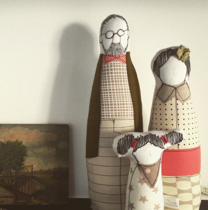 Family portrait, Couple gift, Family Art, Unisex Gift, Soft sculpture, Decorative doll, Anniversary gift, Interior doll, Textile art doll