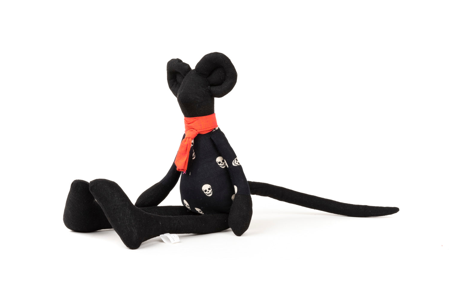 Stuffed doll, Home Decor toy, Handmade doll, Black doll, Mouse doll, Handmade mouse, Fabric doll, Plush doll, Textile doll, Stuffed animal,