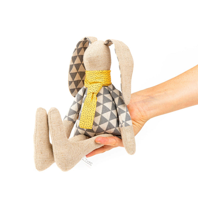 Rabbit doll, Plush toy doll, Handmade bunny, Fabric doll, Baby room décor, Handmade gift, Stuffed animal, Soft sculpture doll, Rabbit plush